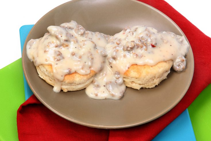 Sausage in Sawmill Gravy (a real southern tradition!)