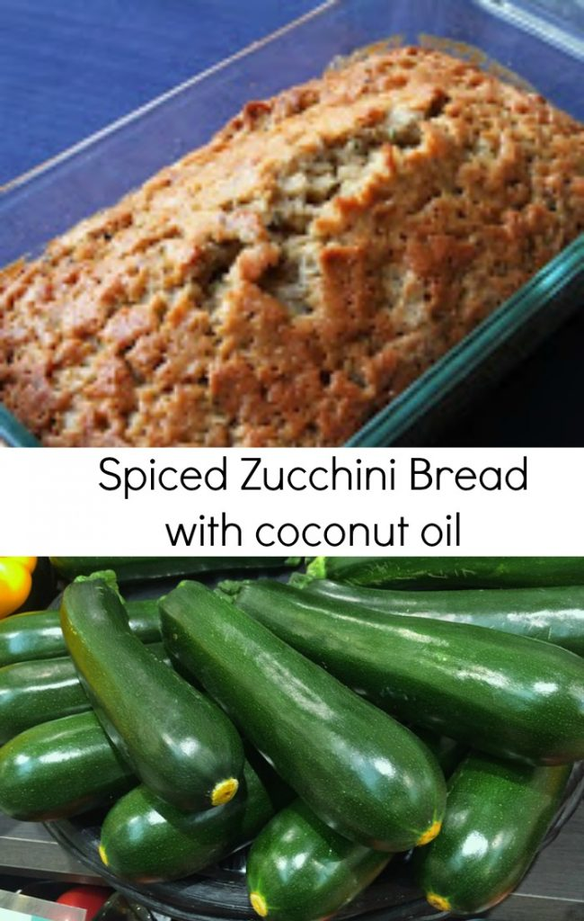 Spiced Zucchini Bread Recipe with Coconut Oil