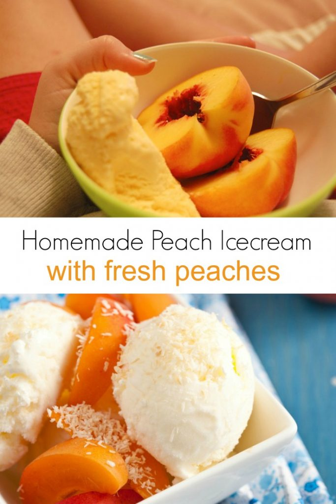 Want to make homemade icecream? This easy peach icecream recipe uses fresh peaches and other natural ingredients for a delicious summer dessert.