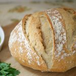 rustic homemade bread