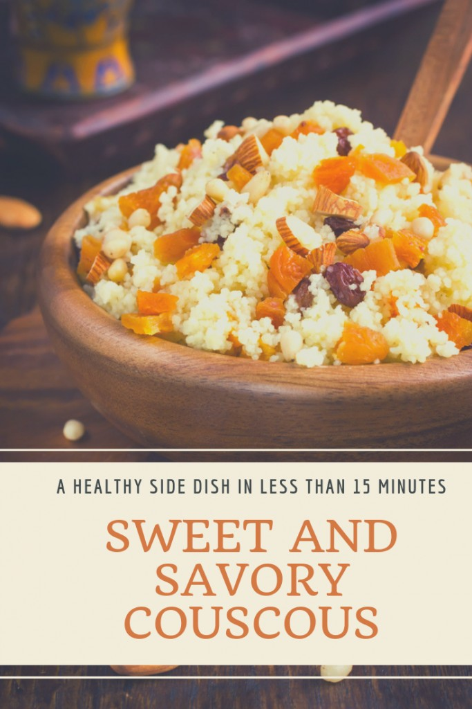Sweet and Savory Couscous Recipe with Raisins and Nuts. A healthy side dish in less than 15 minutes