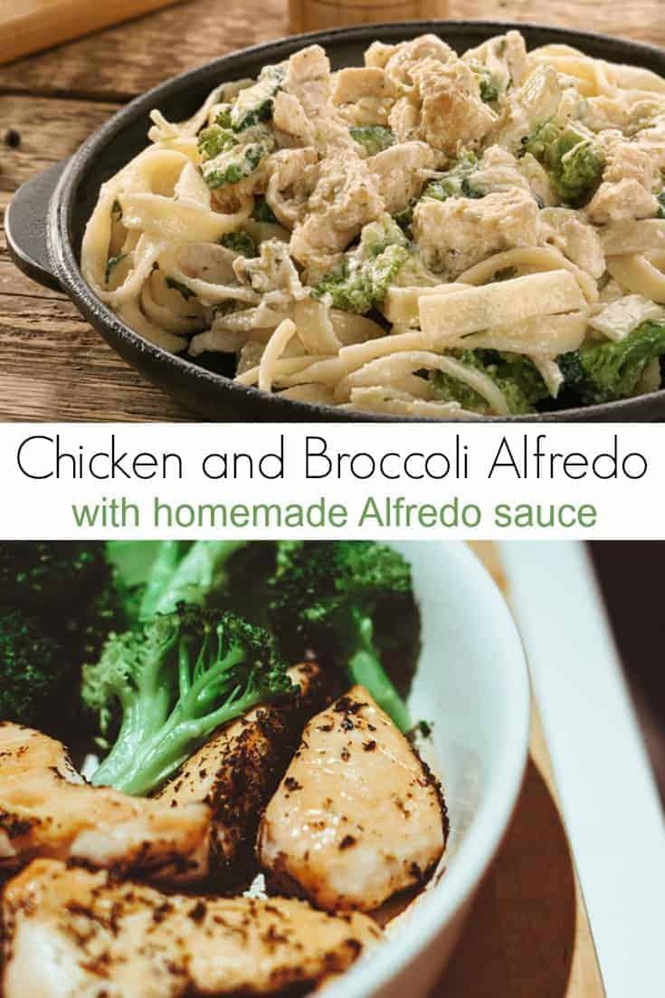Chicken and Broccoli Alfredo Recipe with Homemade Alfredo Sauce