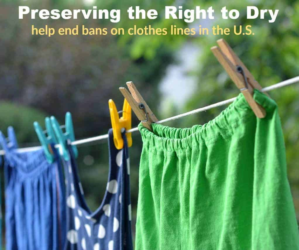 Hanging a Clothes Line Help Preserve the Right to Dry!