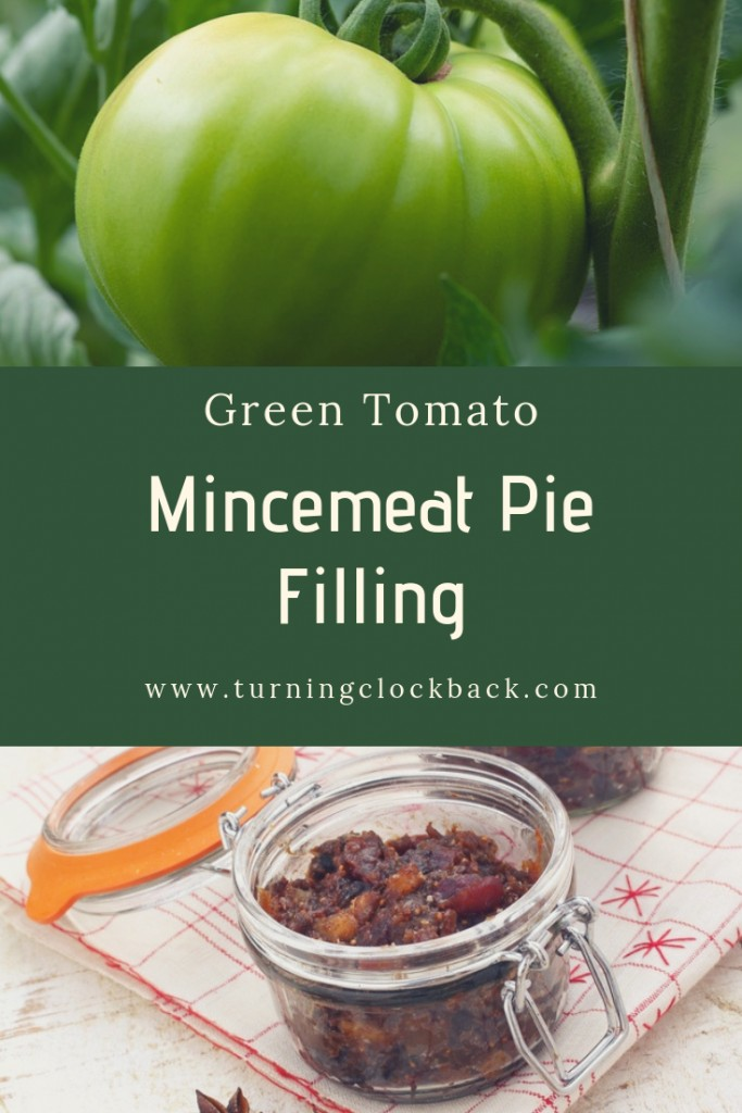Green Tomato on Vine and Mincemeat Pie Filling Recipe in Containers