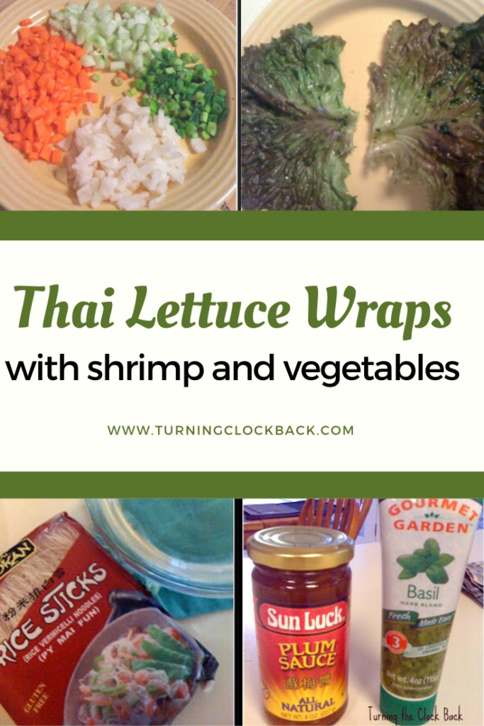 Thai Lettuce Wraps with shrimp and vegetables