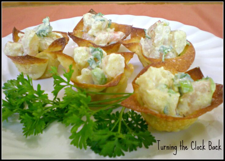 Curried Shrimp Cup (#recipe)