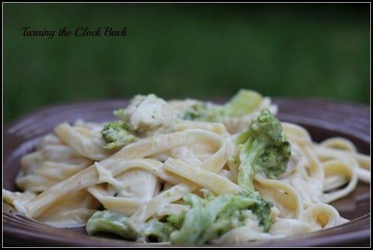 Chicken & Broccoli Fettucini Alfredo #Recipe