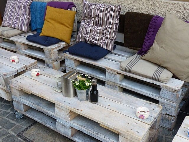 outdoor seating on a patio