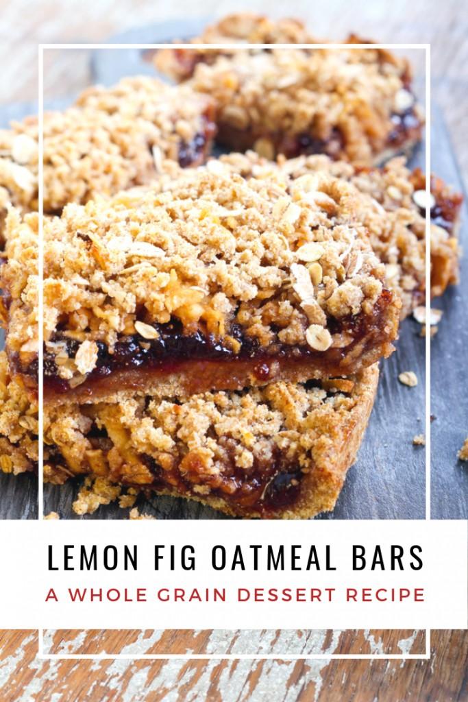 Whole Grain Lemon Fig Bars