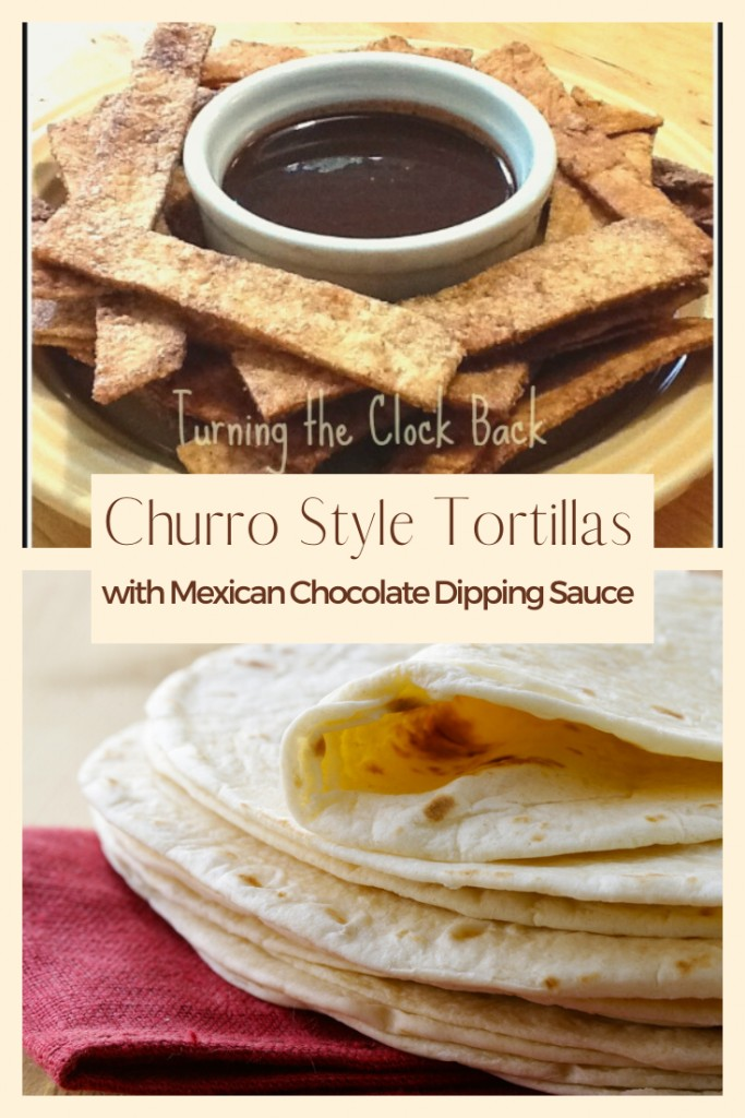 Churro Style Tortillas with Mexican Chocolate Dipping Sauce