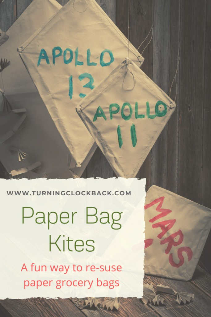 DIY Paper Bag Kites are a fun way to reuse paper grocery bags