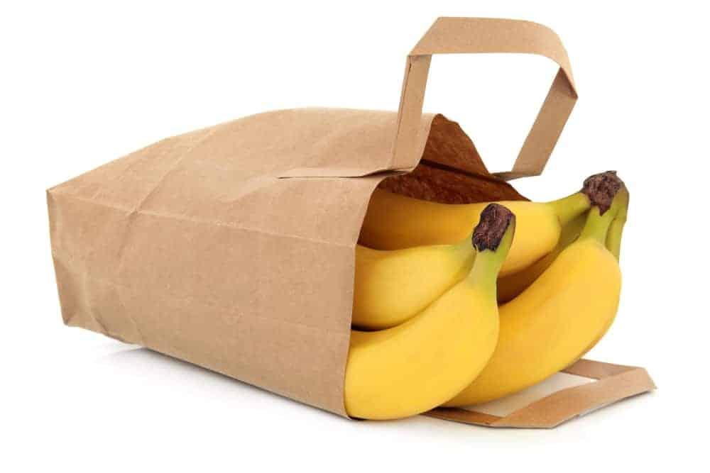 Bananas in a paper Bag
