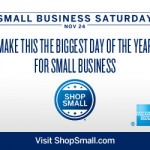 Small Business Saturday is coming up November 24th!  #SmallBizSat