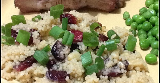 Couscous with Dried Cranberries and Pine Nuts #Recipe