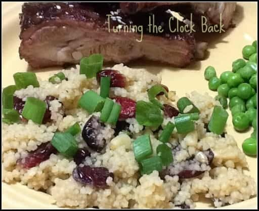 Couscous with Dried Cranberries and Pine Nuts