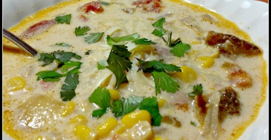Mexican Chicken and Corn Soup #Recipe and Del Monte Contest and #Giveaway