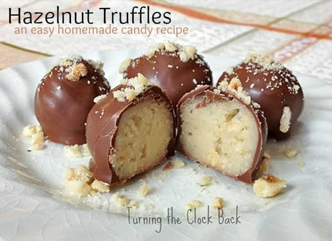Homemade Candy Hazelnut Marzipan Truffles