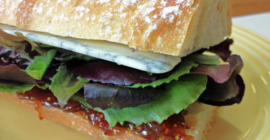 Vegetarian Recipe: Figgy Blue Sandwich and a Cookbook #Giveaway!