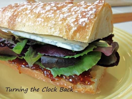 Figgy Blue Sandwich vegetarian recipe