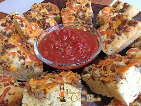 Spicy Sausage, Herb, and Cheese Snack Bread