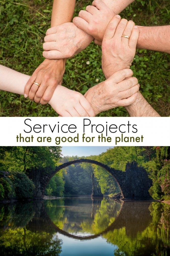 Teaching kids to give back is important. Here are a few service projects that are good for the environment. Encourage kids to participate in these eco friendly service projects to give back to the community!
