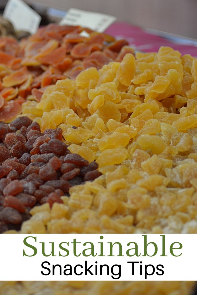 bulk dried fruit to indicate sustainable snacking
