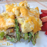 Asparagus and Sausage Strata : An Easy Egg and Asparagus Recipe!  #spon