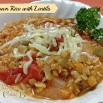 Meatless Monday #Recipe:  Italian Brown Rice with Lentils #Scjgreenerchoices