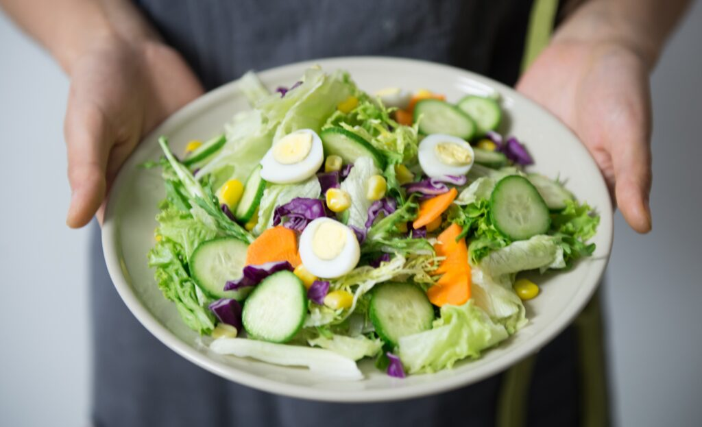 close up of salad on a plate