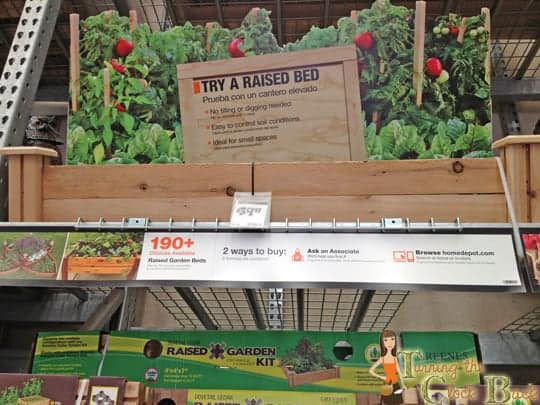 home depot raised bed for organic gardening