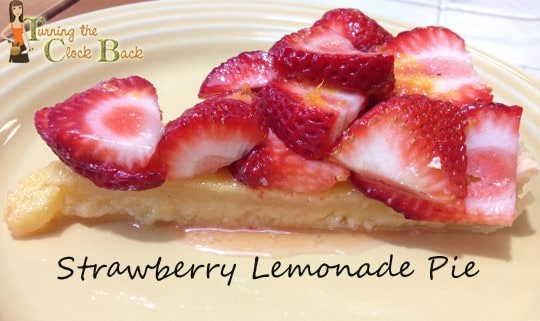 strawberry lemonade pie summer dessert recipe