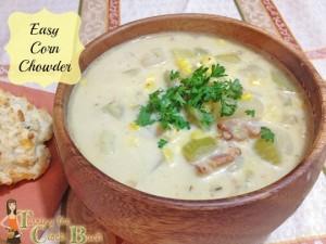home made corn chowder corn recipe