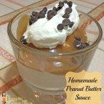 peanut butter sauce topping
