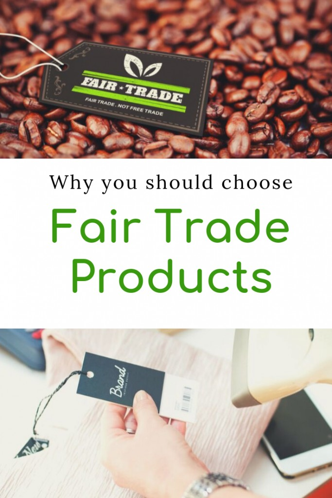 Fair Trade coffee and someone shopping