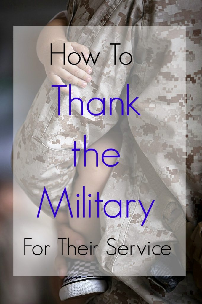How to Thank the Military for their Service