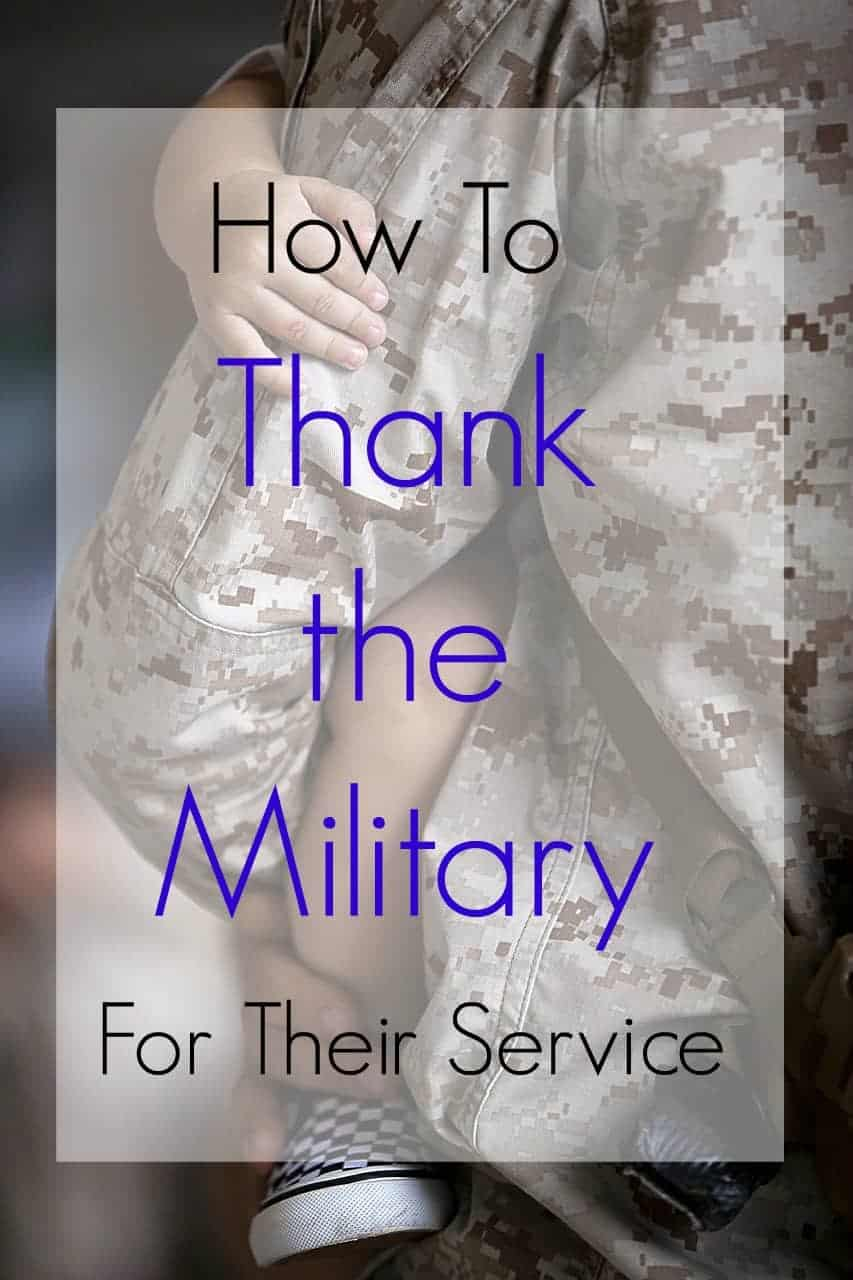 Take a moment to thank the military for their service!  Here are a few tips for military care packages, military charities, and other simple patriotic ideas.