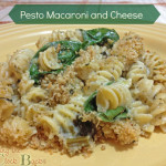 Pesto Macaroni and Cheese with Spinach #Recipe for #MeatlessMonday
