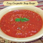 Easy Gazpacho Soup Recipe with Naked Power Garden Tomato Kick #sponsored