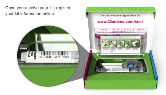 genetic testing from 23andMe