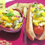 mango relish for a healthy fourth of july with banner