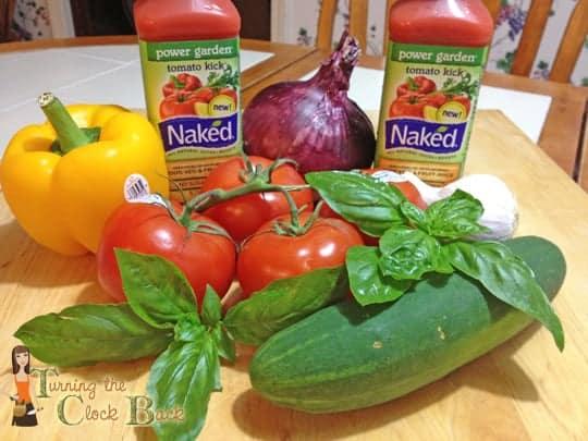 naked power garden with veggies easy gazpacho soup recipe