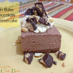No Bake Chocolate Cheesecake with Peanutbutter Whipped Cream