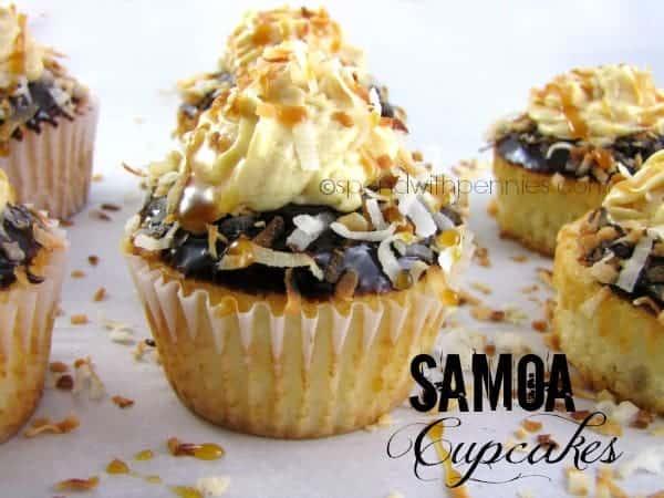 samoa cupcakes for recipe linky