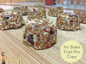 healthy snack ideas trail mix cups