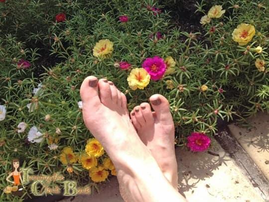 feet after pedicure Hyatt Regency Lost Pines