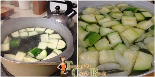 learning how to freeze zucchini