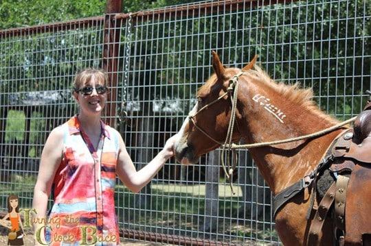 with the horses Hyatt Regency Lost Pines