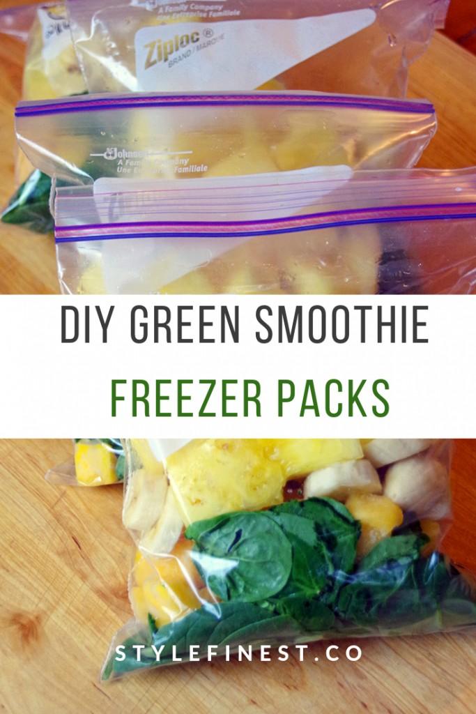 DIY Green Smoothie Freezer Packs
