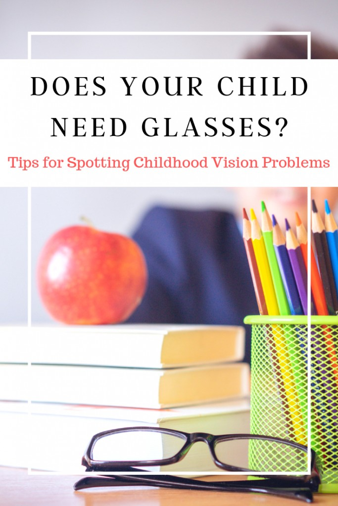 School books, supplies and eye glasses with text
