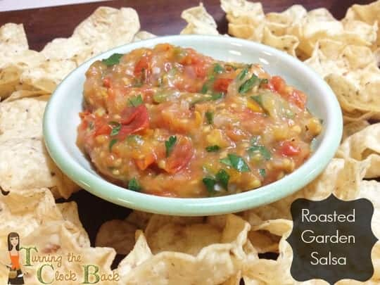 roasted garden salsa with banner